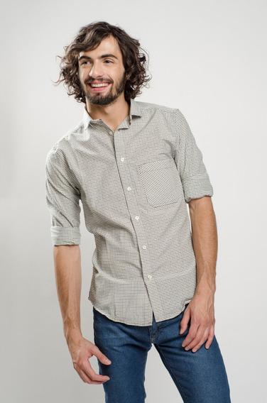 Camisa Manga Larga Estampada De Hombre Soho Modelo Denmark.