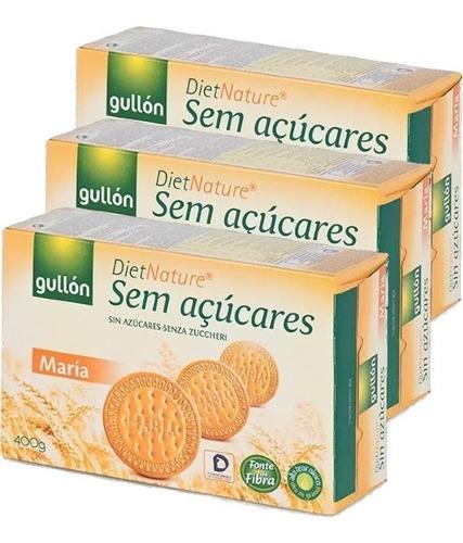 Imagem 1 de 1 de 3x Biscoito Maria Diet Sem Açúcar Gullon 400g