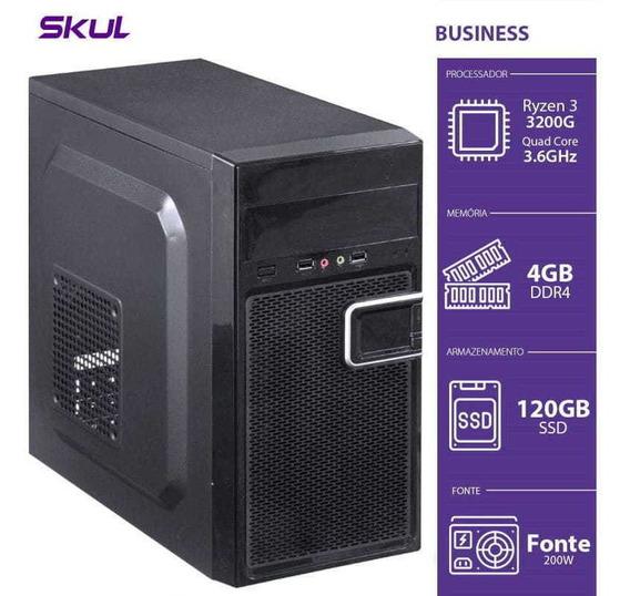 Computador Business B300 - R3-3200g 3.6ghz 4gb Ddr4 Ssd 120