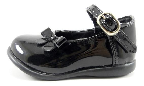 Zapato Guillermina Bebe Moda Negra Blanca Charol Fiesta