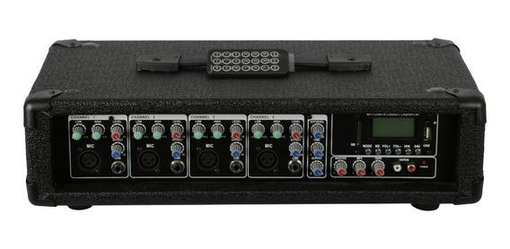 Cabeçote Amplificado 150w 4 Canais +usb,sd,mp3,bluetooth,fm