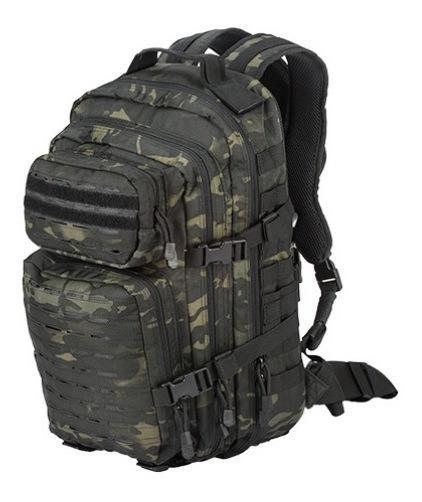 Mochila Tactical Manuflaje Negro Xtreme C