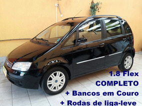 Fiat Idea 1.8 Hlx Flex, Completo + Couro + Rodas