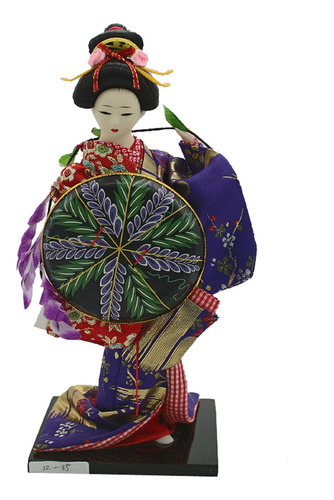 Imagen 1 de 2 de Muñeca De Geisha De Kimono Japonés Vintage Decoración