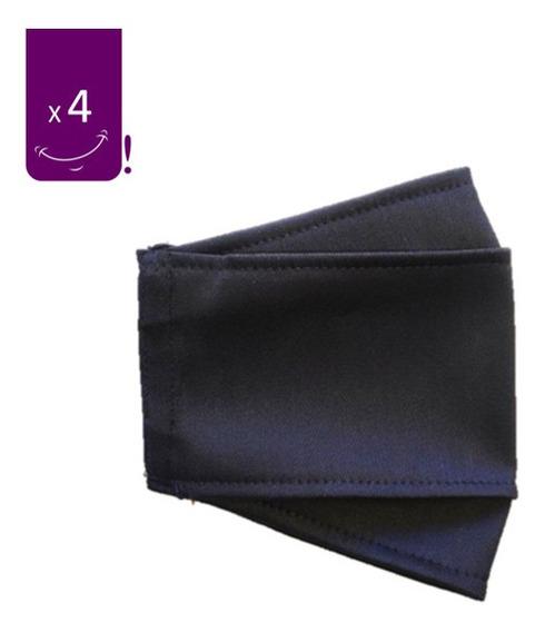 Mascarilla 3d Reutilizable Antifluidos Negro X4