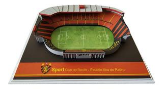 Novo Mini Estádio Ilha Do Retiro Sport Recife Oficial 15cm