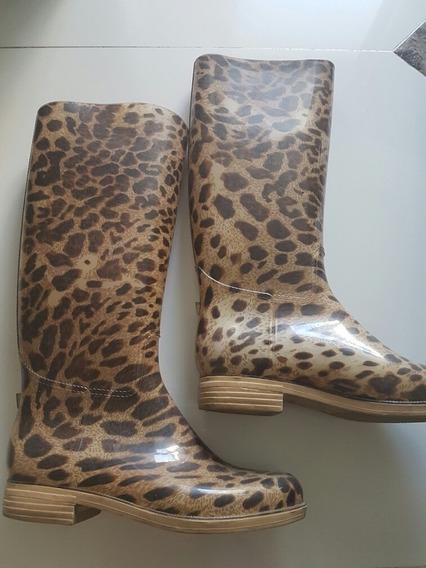 Espectaculares Botas De Lluvia De Sarkany N39 Leopardo