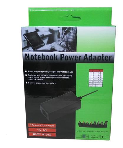 Imagen 1 de 2 de Cargador Fuente Universal Para Notebook Con 8 Conectores