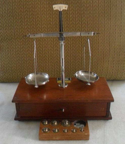 Balança Antiga Ourives C/ Cepo & Pesos - I M P E R D I V E L !!!
