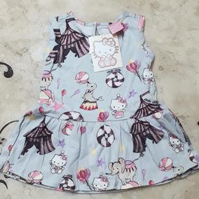 Vestido Circus Hello Kitty Bebê Novo Gg De 12 A 18 Meses
