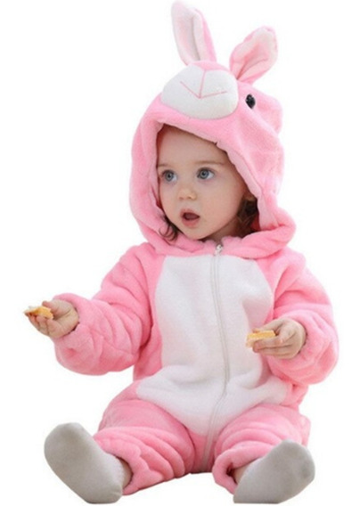Macacão Pijama Bebê Coelhinha Fantasia