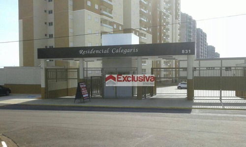 Apartamento Com 3 Dormitórios À Venda, 77 M² Por R$ 395.000,00 - Jardim Dos Calegaris - Paulínia/sp - Ap0786