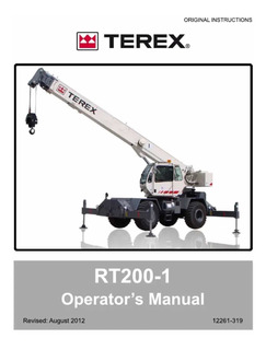 Manual De Operación/servicio De Grua Terex, Grove Y National