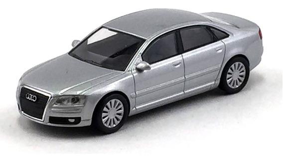 Kyosho Audi A8 Prata Release 23 1/64 Loose