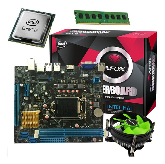 Kit Up Grade Gamer Intel Core I5 3470 / Afox H61 / 4gb Novo