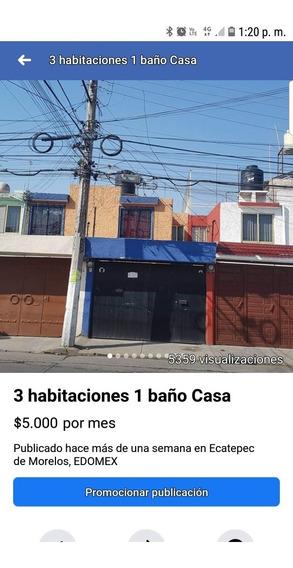 Rento Casa De Dos Niveles Con Gas Estacionario, La Planta Ba