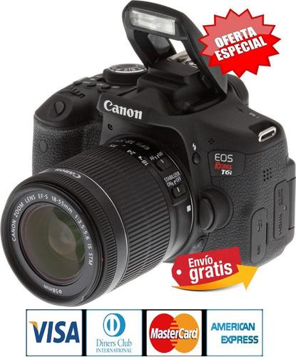 Imagen 1 de 7 de Camara Profesional Canon T6i +lente 18.55mm 24,1 Mpx Wifi