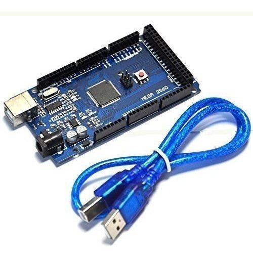 Arduino Mega Compatível Atmega2560 R3 Ch340g Com Cabo Usb