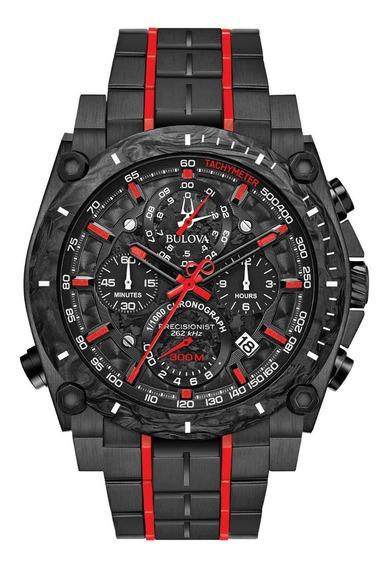 Relógio Bulova Precisionist Carbon Preto 98b313 - Promoção