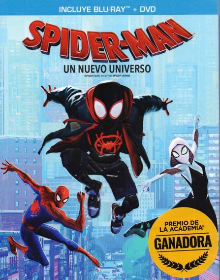 Spider-man Un Nuevo Universo Marvel Pelicula Blu-ray + Dvd