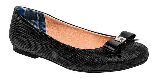 Zapato Flats Dama Pk 80130 Ferrioni Negro