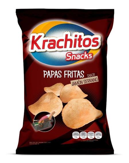 Papas Fritas Krachitos 55g Sabor Jamón Serrano