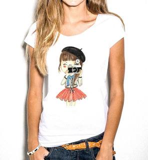 T-shirt Feminina Estampas Exclusivas