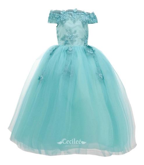 Vestido Hermoso De Fiestas Elegante Niña Alexa