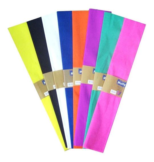 Papel Crepe De Colores Pack X 10 Paquetes Microcentro