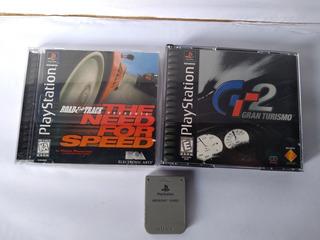 Jogos Originais Americano Ps1 Playstation E Memory Card.