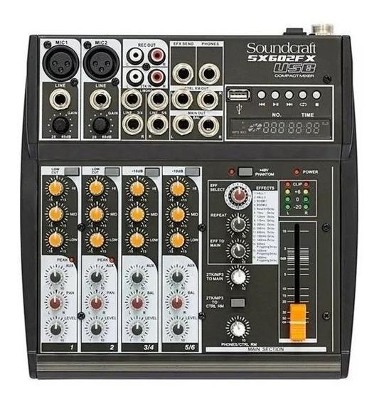 Mesa De Som Soundcraft Sx602fx Usb Sx602 Melhor Da Categoria
