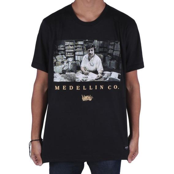 Camiseta Chronic Medellin Co. Preta Original Envio Imediato
