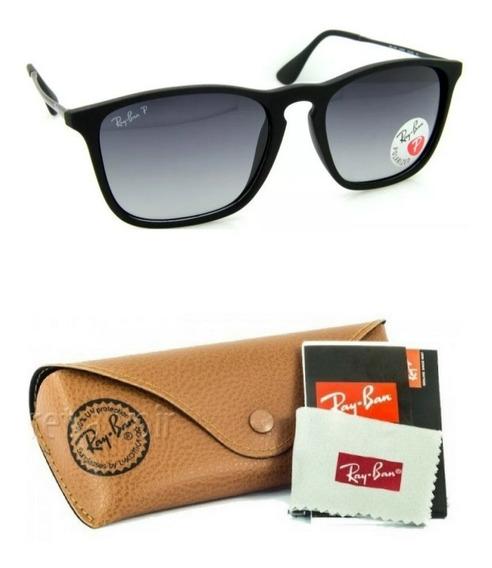 Oculos De Sol Ray Ban Chris 4187 Polarizado Unissex Barato