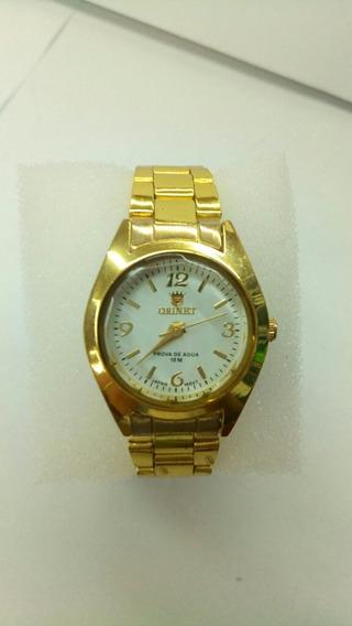 Relógio De Pulso Feminino Orinet Dourado