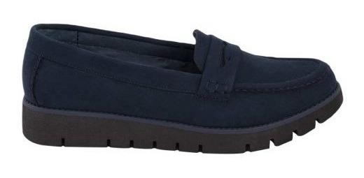 Zapato Casual Shosh 610 Cof 179324 Piel Ante Altura 3 Cm