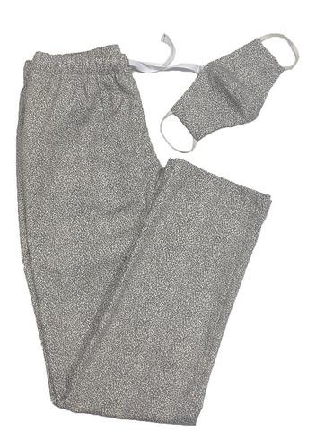 Pantalón Casual Animal Print Grey  + Tapaboca Bicapa Onpants