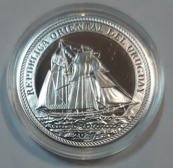 Uruguay 2017 1000 Pesos Plata 200 Aniv Armada Nacional Barco