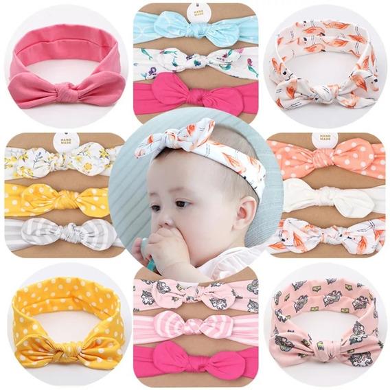 Set De 3 Diademas Para Niñas Bebé Bandas Turbante