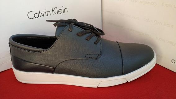 Tenis Calvin Klein Leather Para Hombre