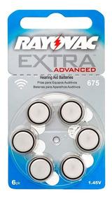 Bateria Aparelho Auditivo 675 Rayovac Af675 60 Pilhas
