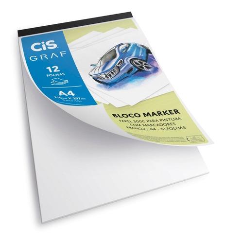 Bloco Desenho Técnico A4 300g Cis Graf 12 Folhas