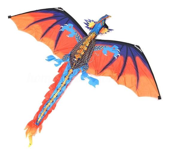 Pipa 3d Dragão 140cmx120cm + Linha. Frete Grátis!