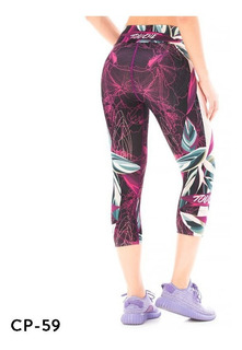 Calzas Deportivas Mujer Touche Sport Lycra Mujer Gym Cp 59