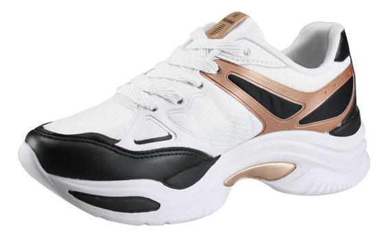 Tênis Feminino Azaleia 885/523 - Branco/dusty