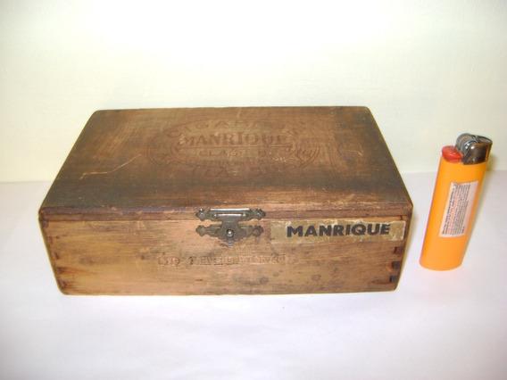 Antigua Caja De Cigarros Manrique 60 Miguelitos Caja Vacia