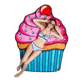 Canga Indiana Colcha Saida De Praia Piscina Cupcake Yoga