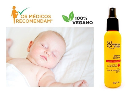 Repelente Spray Antialérgico Grávidas Bebês Alergoshop 120ml