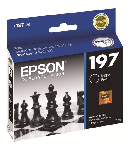 Cartucho Epson 197 Negro Original Xp-101 Xp-201 Xp-211 8ml