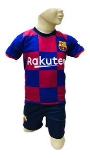 Conjunto Infantil Uniforme Barcelona Messi 2019 Lançamento
