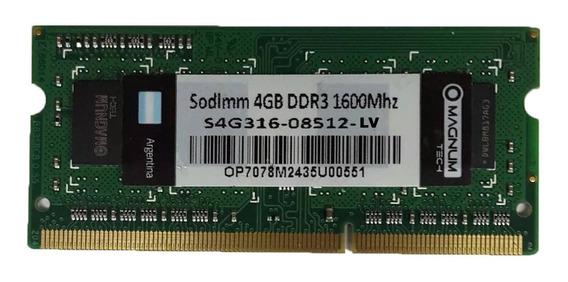 Memoria Ram Para Notebook 4gb Ddr3 1600 Mhz Ramos Mejia